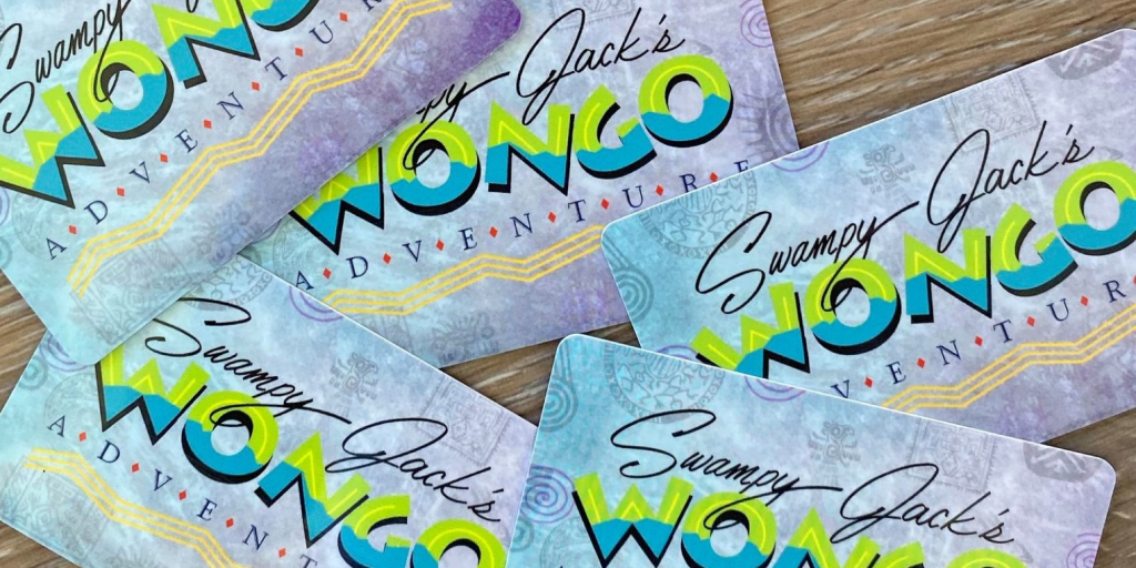 Your Wongo Card is your passport to adventure at Swampy Jack